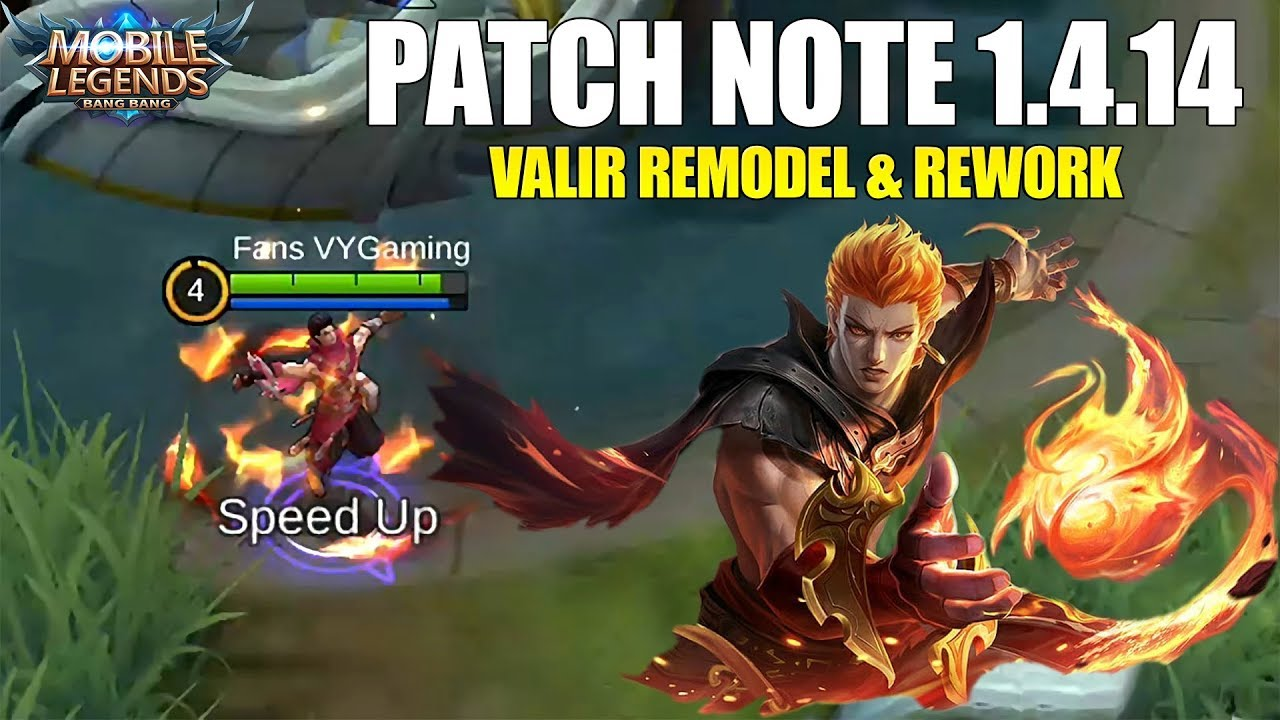 VALIR REWORK NERF BRUNO NERF SPELL FLAMESHOT & VENGEANCE BUFF PATCH NOTE 1 4 14 MOBILE LEGENDS