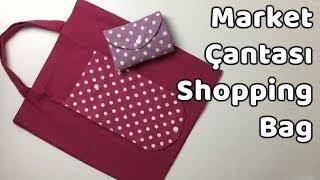 Pratik Katlanabilir Alışveriş Market Çantası - Shopping Bag - YoncaHobby