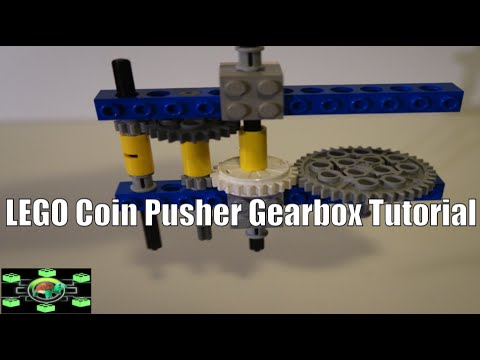 LEGO Coin Pusher Gearbox Tutorial - YouTube