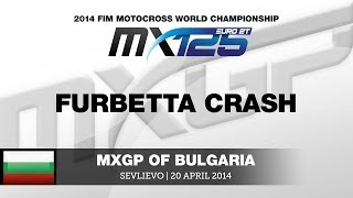 EMX125 Round of Bulgaria 2014 Furbetta crash - Motocross