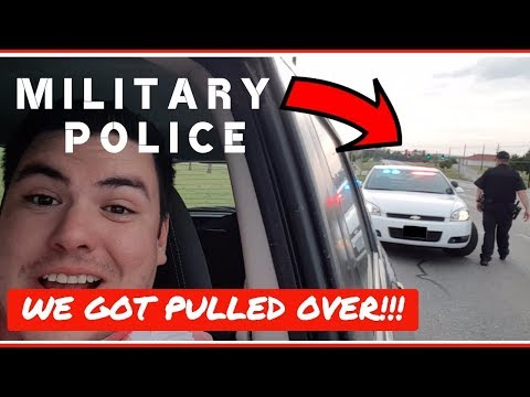 Pulled over by an MP 🚔  US Army Graduation 🇺🇸  Ft. Sill, Okl