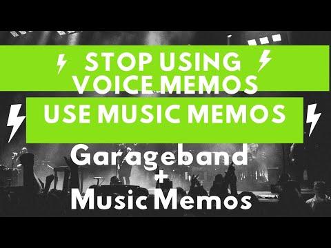 Garageband + Music Memos! MUST WATCH VIDEO!