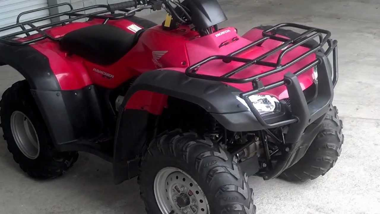 used 2006 honda trx350fe rancher es 4x4 atv for sale at honda of chattanooga tn youtube. Black Bedroom Furniture Sets. Home Design Ideas