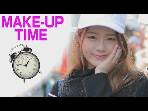 DAILY MAKEUP|How long it takes for HARAJUKU GIRLS to makeup ?|Ask Japanese