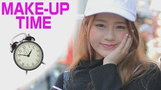 DAILY MAKEUP|How long it takes for HARAJUKU GIRLS to makeup ?|Ask Japanese