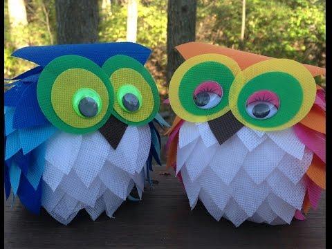 DIY- OWL using Pastel Sheet and Newspaper || Enjoy Crafting # 21