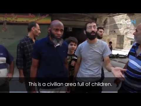 - Syria : Aleppo : 6/9/2016 : Besieged Aleppo Burning from Chlorine Attack
