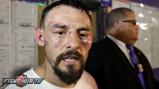 "Robert Guerrero ""Floyd Mayweather told me I won the fight"" embraces Thurman after Garcia fight"