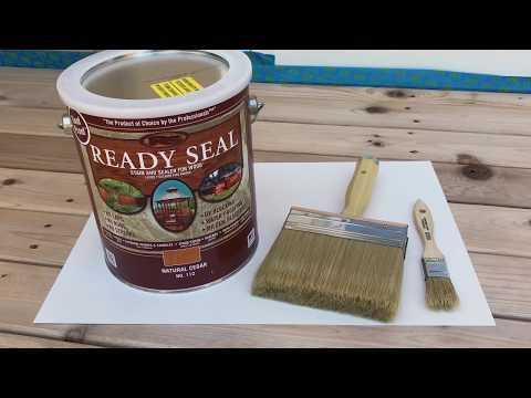 Sealing Our New Cedar Deck