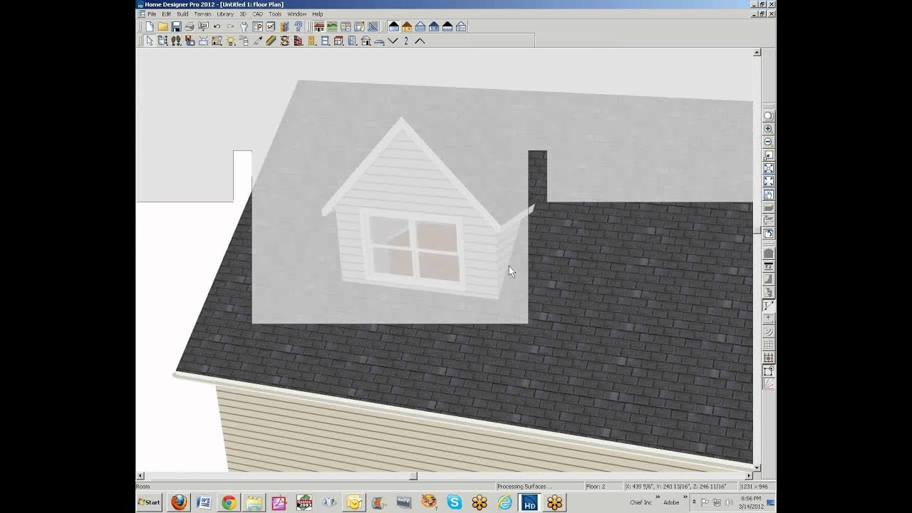 home designer pro 2012 roof dormers and related matters - youtube