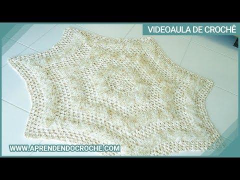 tapetes de crochê barroco quarto de casal
