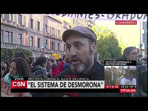 C5N - El Diario: Marcha de cientificos argentinos (Parte 2)
