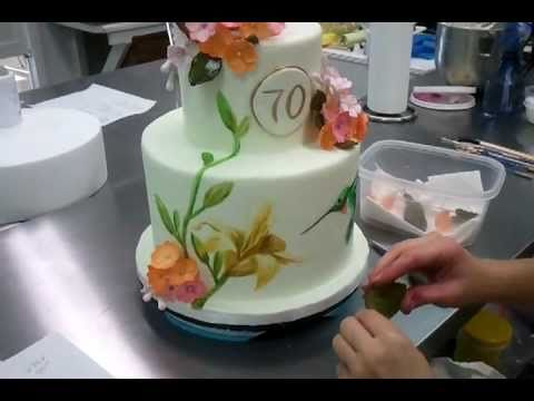 Painting on cakes part 2 savannah custom cakes youtube - How to make decorative cakes ...