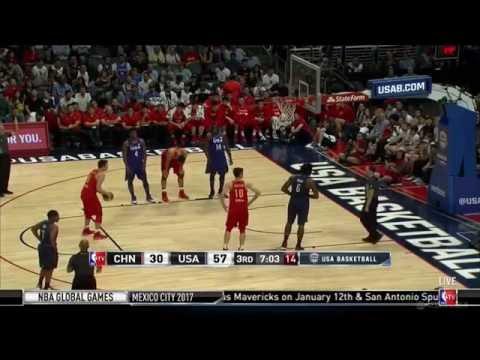 CHINA vs USA basketball full game 2016