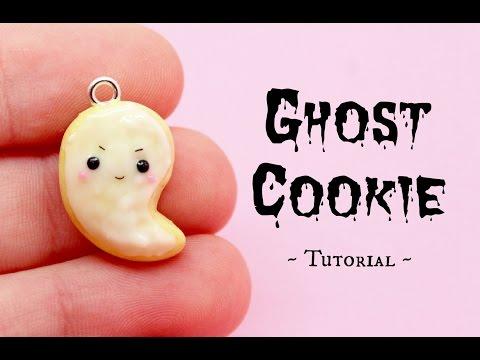 Ghost Cookie ~ Polymer Clay Kawaii Halloween Easy Tutorial