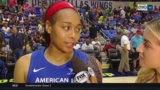 Allisha Gray talks about limiting the Suns offensive rebounds