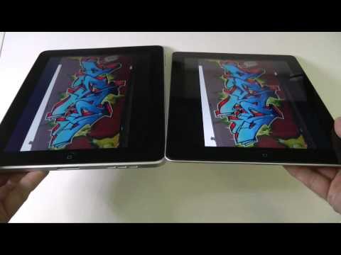 Apple iPad 2 vs iPad 1 Screen Comparison