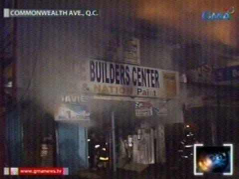 Saksi: Hardware at construction supply store sa Brgy. Holy Spirit, Q.C., nasunog