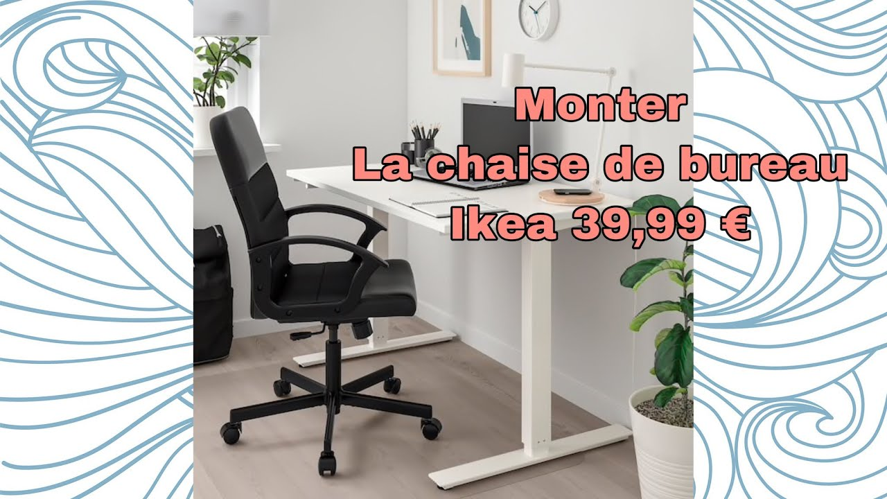Monter La Chaise De Bureau Ikea Renberget Youtube