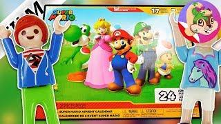 Playmobil Rodzina Wróblewskich JULIAN I HANIA otwierają kalendarz adwentowy SUPER MARIO -Czy to sen?