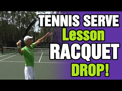 Tennis Serve Lesson On Racquet Drop - Tom Avery Tennis