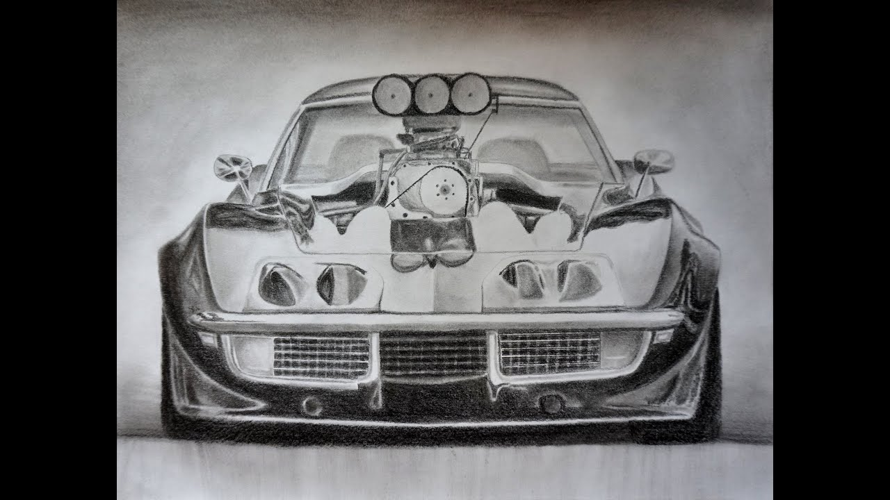 Awesome Car Drawing Corvette Stingray Supercharged Youtube