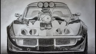 Awesome Car Drawing: C3 Corvette Stingray Supercharged