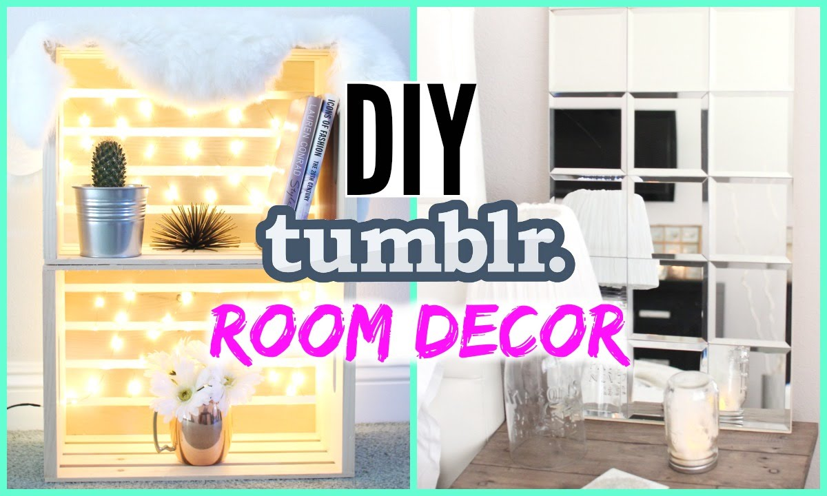 Diy tumblr room decor cheap simple youtube - How to decorate simple room ...