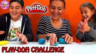 Play-Doh Knetmasse Challenge - wer knetet am besten? - Kanal für Kinder