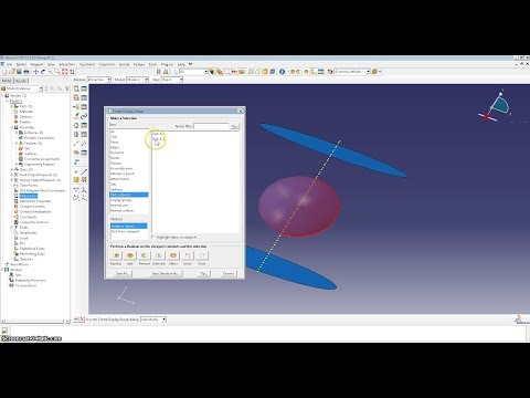 Abaqus - Surface-to-surface Interaction: Surface-to-surface Interaction, Rough Contact Technique shown: Create Display Group
