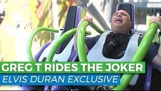 Greg T Vomits on a Rollercoaster | Elvis Duran Exclusive