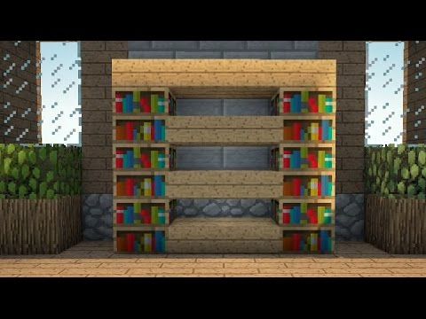 Minecraft - How To Make A Simple Book Cabinet In Minecraft ...