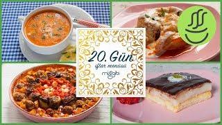 Ramazan 20. Gün İftar Menüsü: Sosyete Mantısı - Patlıcan Sarma - Tavuk Çorbası - Kedi Dili Tatlısı