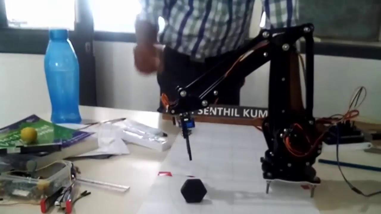 Arduino based Uarm robotic arm using inverse kinematics