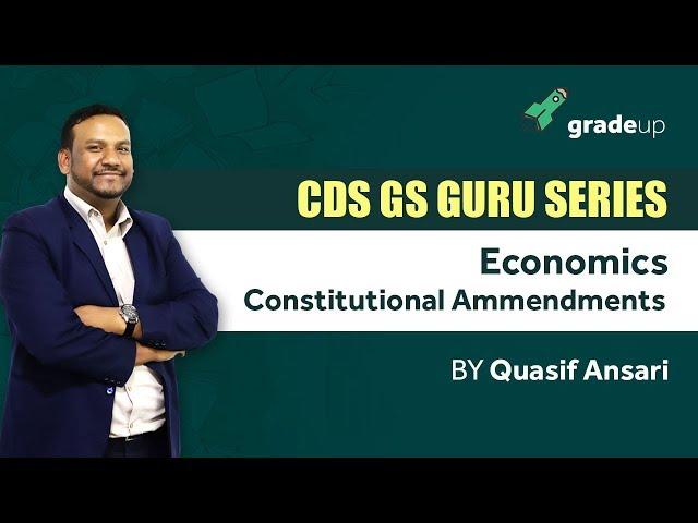 Live Session on Constitutional Amendments I CDS 2018 I By Quasif Ansari Sir