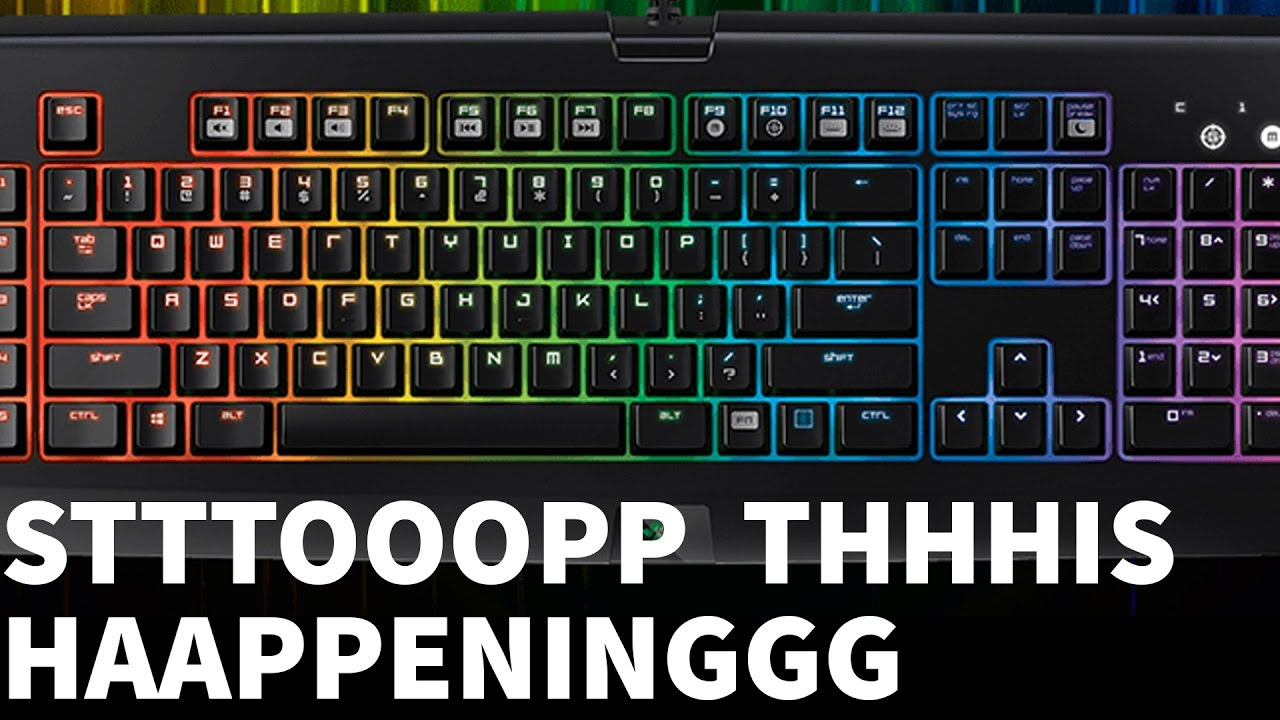 How to fix the key repeat on Razer mechanical gaming keyboards