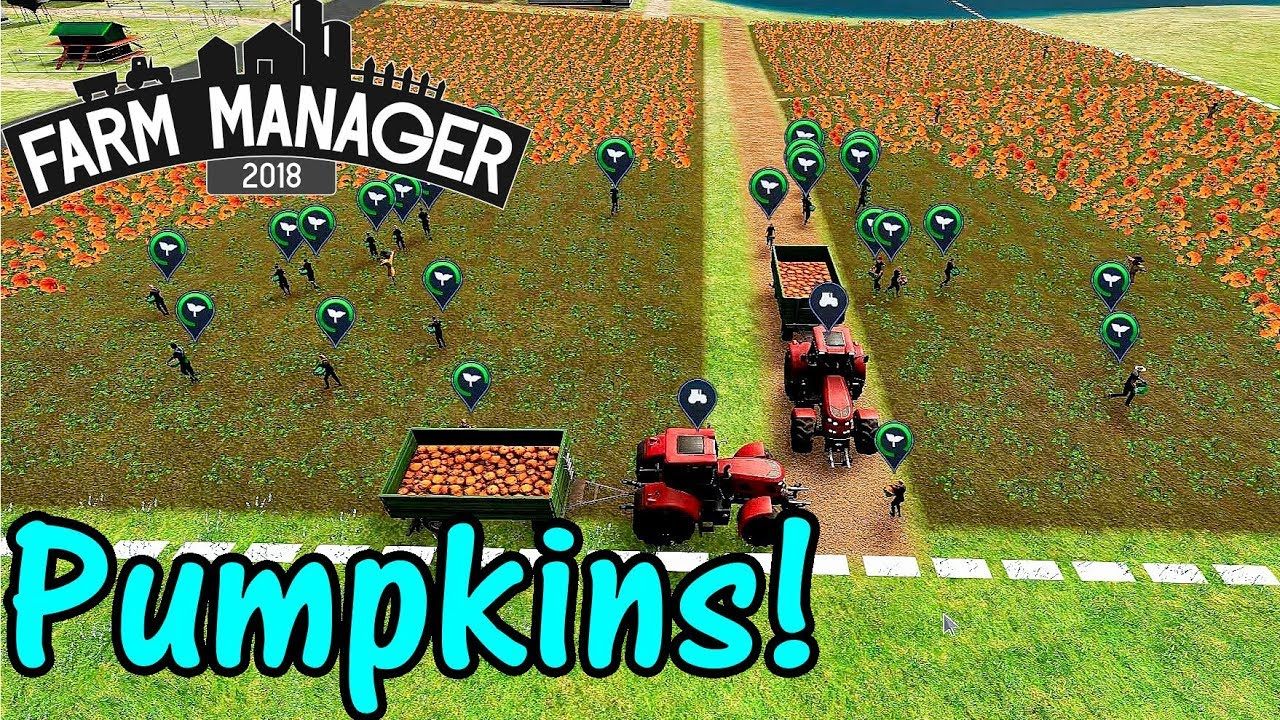 Let's Play Farm Manager 2018 #8: Pumpkins!