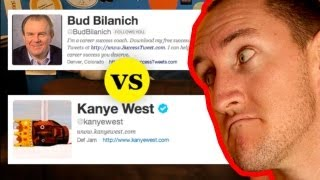 Kanye West's Tweets vs Bud Bilanich's Tweets