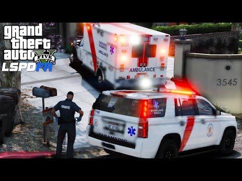 GTA 5 LSPDFR EMS #27 |Play As A Paramedic| Los Santos EMS Ambulance & Supervisor Responding To Calls