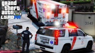 GTA 5 LSPDFR EMS #27  Play As A Paramedic  Los Santos EMS Ambulance & Supervisor Responding To Calls