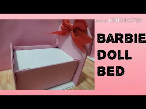 How to make DIY small Barbie doll bed without anyone's help