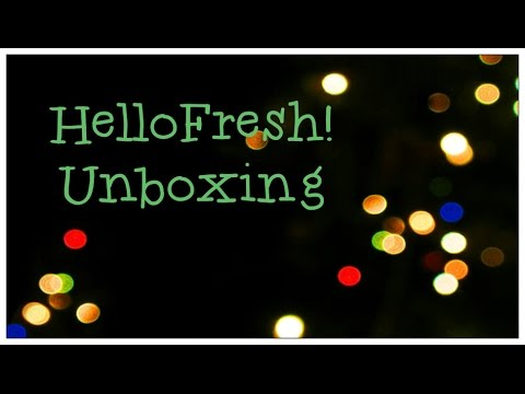Hello Fresh Unboxing - Food Subscription Box + Promo Codes!!!