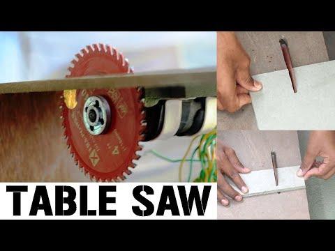 How to make Homemade Table Saw DIY Plans
