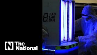 علماء البحرين يبتكرون روبوتا لمكافحة فيروس كورونا (فيديو)