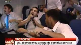 Festa Portista no avião / Villarreal 3-2 FC Porto [SIC]