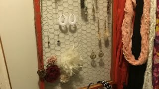 Turn A Vintage Window Into A Jewelry Hanger - Diy Home - Guidecentral