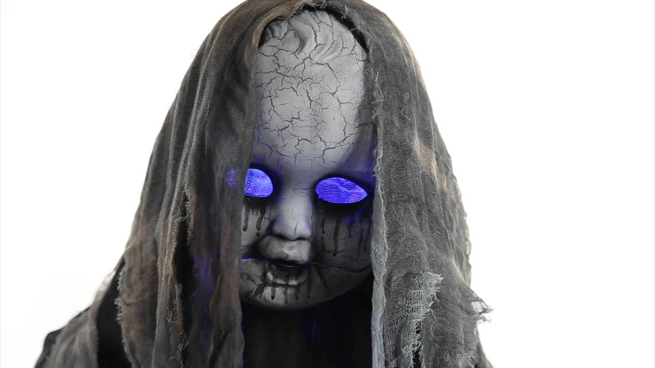 creepy rising animated doll spirit halloween youtube - Spirit Halloween Decorations