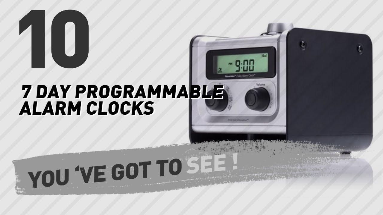 7 Day Programmable Alarm Clocks // New & Popular 2017
