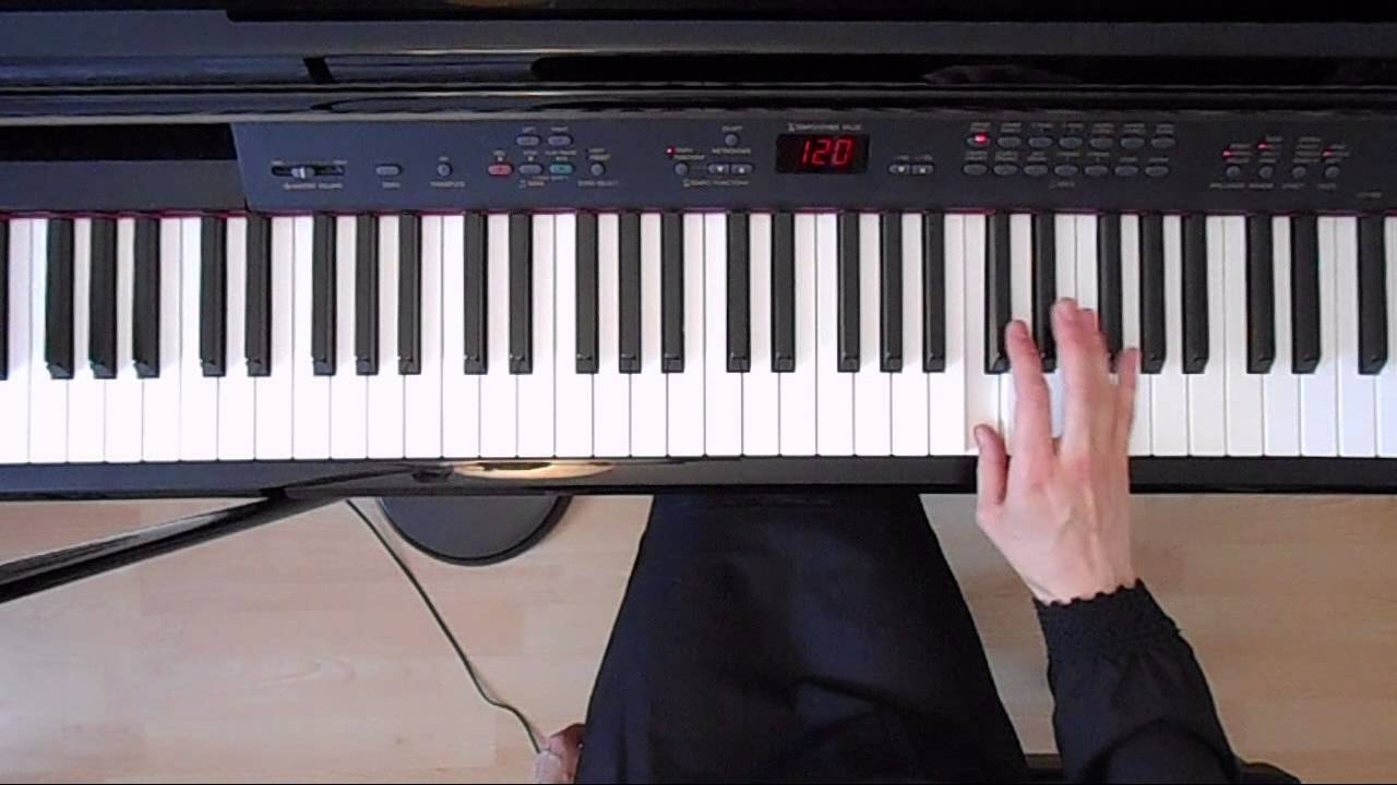 C Minor Natural Scale - Right Hand- Piano tutorial