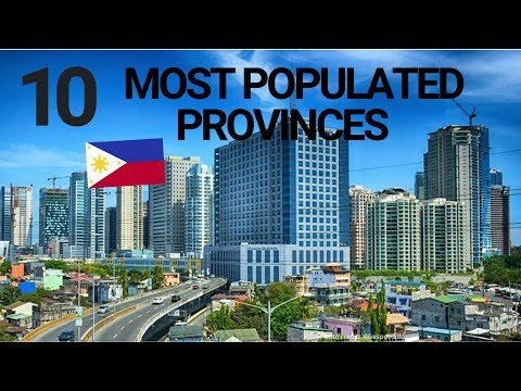 Top MOST POPULATED PROVINCES in PHILIPPINES